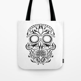 Day of the Dead Skull - Hearts Tote Bag