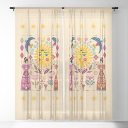 Folk Art Inspired By The Fabulous Frida Sheer Curtain