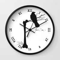 bones Wall Clocks featuring Bones by Gustik Albo