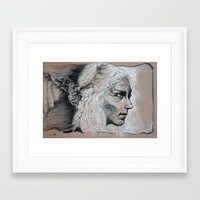 mother of dragons Framed Art Prints featuring Mother by Clayton Young