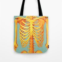 skeleton Tote Bags featuring Skeleton by ShannonPosedenti
