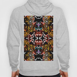psychedelic Pattern red orange and gold Hoody