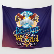 Defend your world v2 Wall Tapestry