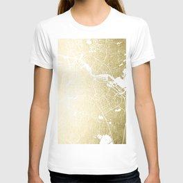 Amsterdam Gold on White Street Map T-shirt