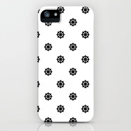 Dharma Wheel Pattern (Black and white) iPhone Case