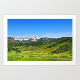 Crested Butte Art Print