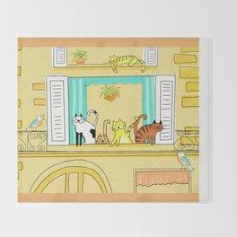 Kitty-Kat Chateau Throw Blanket