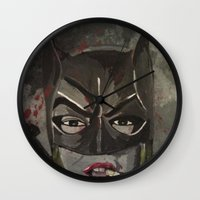 gotham Wall Clocks featuring Gotham Vixen by Paintings That Pop