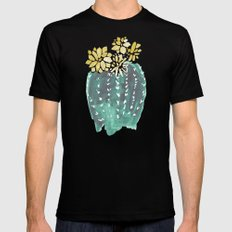 Cactus (4) Mens Fitted Tee MEDIUM Black