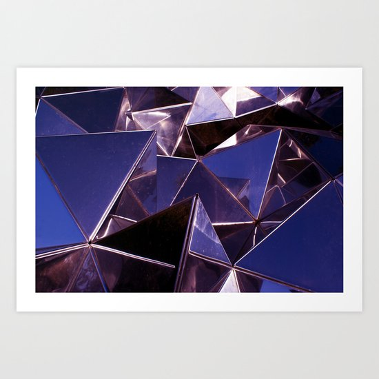 Abstract Glass Pattern 2 Art Print