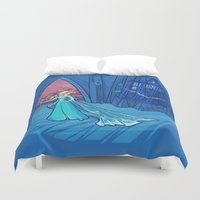 hallion Duvet Covers featuring Frozen in Time and Space by Karen Hallion Illustrations