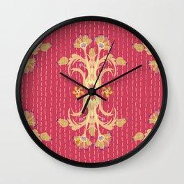 Kantha bouquet 7 Wall Clock