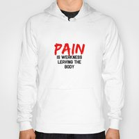 pain Hoodies featuring Pain by Spooky Dooky