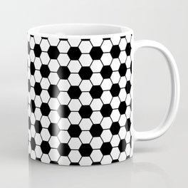 Ball pattern - Football Soccer black and white pattern Coffee Mug