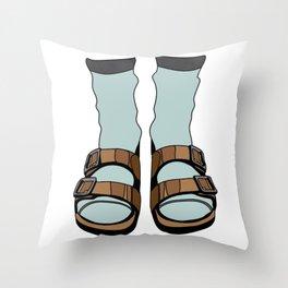 Birkenstocks Throw Pillow
