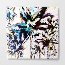 Palm Trees In Juno Metal Print