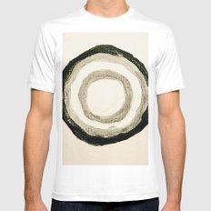 Circle 1 MEDIUM White Mens Fitted Tee
