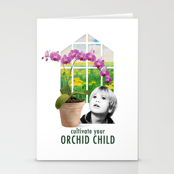 Cultivate Your Orchid Child Stationery Cards