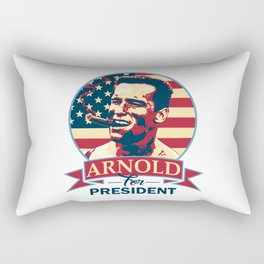 Arnold For President Rectangular Pillow