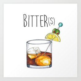 """I Like My Cocktails Like I Like My Worldview"" Art Print"