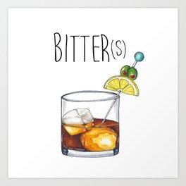 """""""I Like My Cocktails Like I Like My Worldview"""" Art Print"""