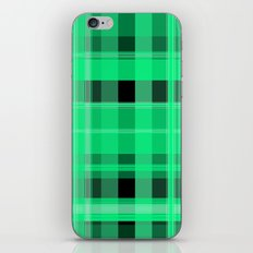 Shades of Green and Black Plaid iPhone Skin