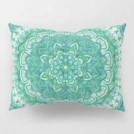 Spring Green Mandala Pillow Sham