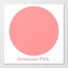 American Pink Canvas Print