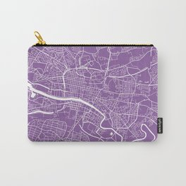 Glasgow map lilac Carry-All Pouch