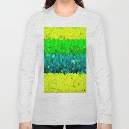 Sparkle Glitter Yellow Green Long Sleeve T-shirt