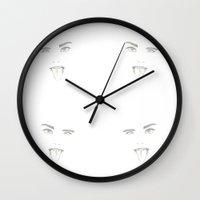 cara delevingne Wall Clocks featuring Cara Delevingne by Sophieelizz