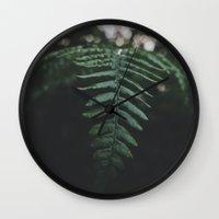 fern Wall Clocks featuring Fern by Bor Cvetko
