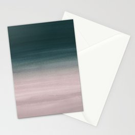 Touching Teal Blush Watercolor Abstract #1 #painting #decor #art #society6 Stationery Cards