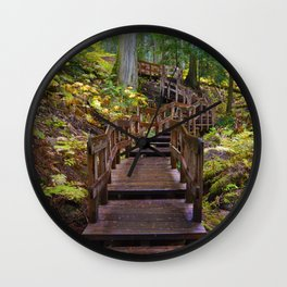 Giant Cedars Boardwalk in Revelstoke National Park, BC Canada Wall Clock