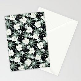 Hawaii floral on dark ground Stationery Cards