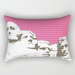 Mount Rushmore - Pink Rectangular Pillow