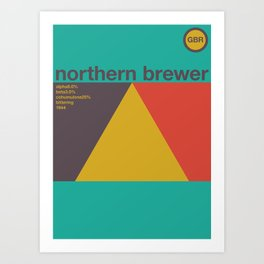 northern brewer single hop Art Print