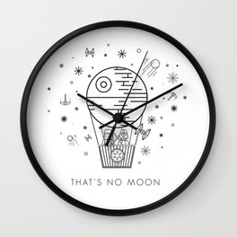 That's No Moon Death Star Hot Air Balloon Storm Tr Wall Clock