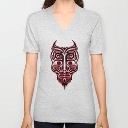 Tribal Style Errorface skull Unisex V-Neck