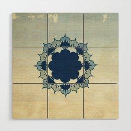 Lotus Mandala Sand Water Wash Wood Wall Art