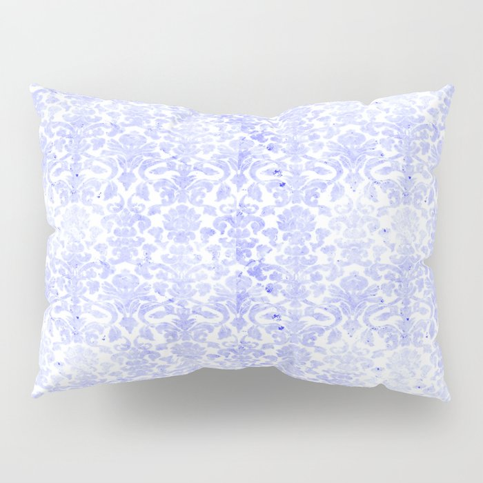 Periwinkle Damask Pillow Sham