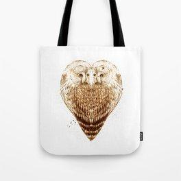 Owl Heart Tote Bag
