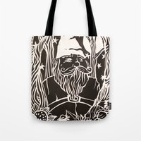 gnome Tote Bags featuring Gnome by Aubree Eisenwinter