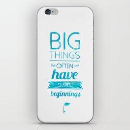 Big Things iPhone Skin