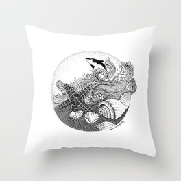 Inspire by Ocean Throw Pillow