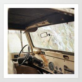 Old Dashboard. Art Print