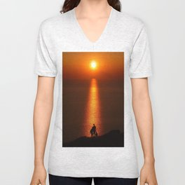 Walk The Path To The Sun Unisex V-Neck