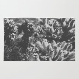 Chollo Cactus Garden (Black + White) Rug