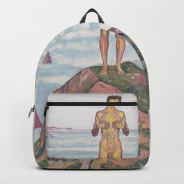 View Into Infinity by Ferdinand Hodler Backpack