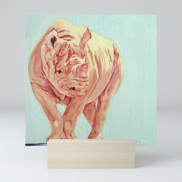 Kay, Pink Rhino Mini Art Print